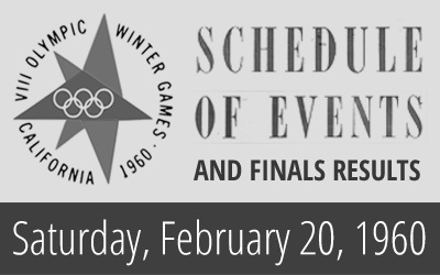 1960 Winter Olympics – Daily Report for 20 February 1960