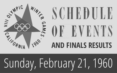 1960 Winter Olympics – Daily Report for 21 February 1960