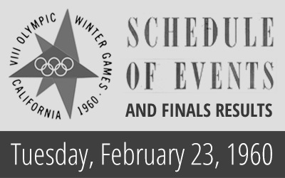 1960 Winter Olympics – Daily Report for 23 February 1960