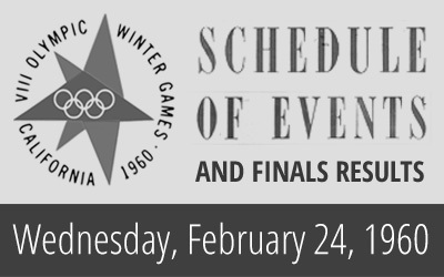 1960 Winter Olympics – Daily Report for 24 February 1960