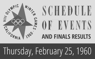 1960 Winter Olympics – Daily Report for 25 February 1960