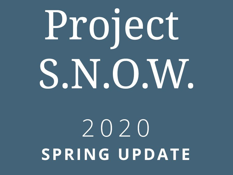 Project S.N.O.W. 2020 Spring Update